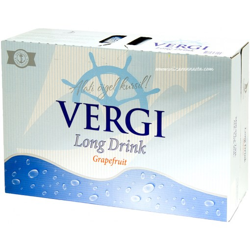 Vergi Long Drink Grapefruit 5,6% 33cl x 24 tölkkiä