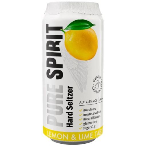 Hard Seltzer Pure Spirit Blueberry, 4,5%, 440 ml (24 kpl)