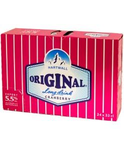 Hartwall Original Long Drink Cranberry 5,5% 24x33cl