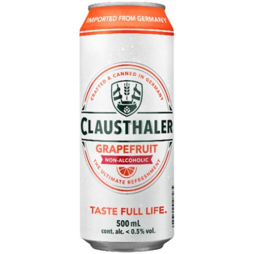 Clausthaler Grapefruit, 0% 0,5L x24 tölkkiä
