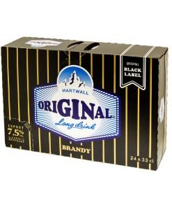 Hartwall Original Long Drink Brandy Black Label 7,5% 33cl x 24 tölkkiä