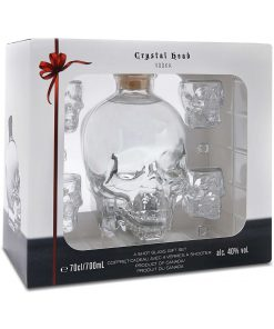 Crystal Head Vodka, Lahjapakkaus, jossa pitsi 40,0% 0,7L
