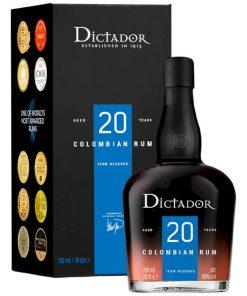 Dictador 20Y Rum Laatikossa  40,0% 0,7L